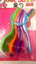5 Cucchaini vari colori e dimensioni - Verde Arancio Viola Fucsia Azzurro- Nuovi