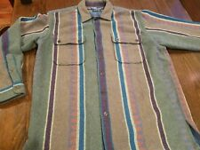 Vtg Ralph Lauren Logging Men's Polo Thick Flannel Shirt Unique Design Mint M