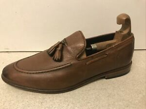 Men's NEXT Hell For Leather BROWN Tassel Loafers SHOES UK 8, EU 42