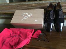 christian louboutin Men's Daviol Laceup Testa Di Moro Shoes Nwb Size 45