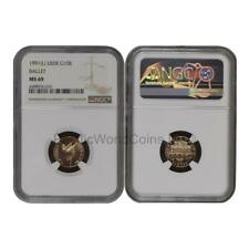 USSR (Russia) 1991 Ballet 10 Roubles Gold NGC MS69 SKU# 6788