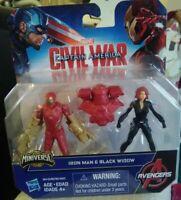 Marvel Captain America Civil War Iron Man and Black Widow miniverse