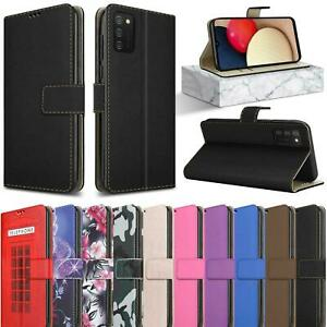 For Samsung Galaxy A03S Wallet Case, Leather Magnetic Flip Stand Phone Cover