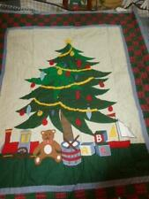 C & F Enterprises Hand Crafted Quilted ChristmasHoliday Tree Throw Blanket 50X60