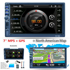 7'' 2DIN Touch Screen Car SUV Radio Stereo MP5 Player+GPS NAVI Bluetooth AM RDS