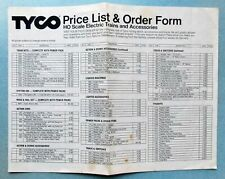 "1976 TYCO HO Scale Electric Trains -- ""ORIGINAL"" PRICE LIST & ORDER FORM"