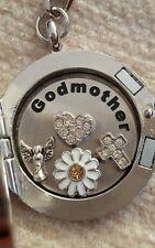 Godmother Floating Memory Locket Necklace Bracelet Keyring Gift
