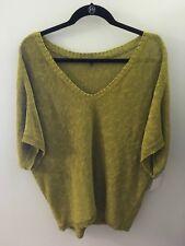 Eileen Fisher Green Knit Sweater W/Dolman Sleeves, Size Medium