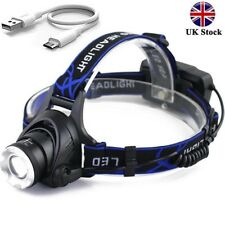 UK Tactical 30000LM Rechargeable T6 LED Headlamp 18650 Headlight Head Lamp Torch
