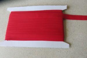 Bias binding Red  Cotton 25mm(1inch) x 10m
