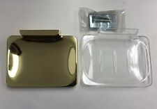 """Gold Polished Brass Bathroom Accessory Soap Dish Holder Wall Mount """"NEW"""""""