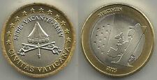 Vaticano - 1€ Euro 2005 Sede Vacante PROBE Specimen
