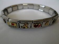 Stainless Steel Collectible Tiles Bracelet Cats Dogs Soccer Kelloggs Pop Tarts