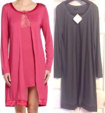 NWT La Perla Women's Iris Long-Sleeve Robe Rayon/Silk Grey Medium $400