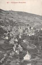 Conques Aveyron France panoramic birds eye view of area antique pc Z20008