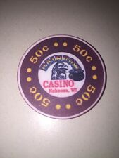 RAINBOW CASINO - NEKOOSA WI Casino CHIP 50 Cents Eagle Pot Of Gold Obsolete