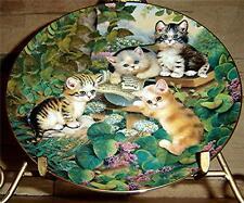 Frisky Felines, Jurgen Scholz, Daily Mews, Bradford Exchange Cat, Kitten Plate