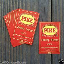 100 BULK WHOLESALE 1920s PIKE SMOKING TOBACCO Bag Label JOHN WEISERT Unused