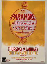 PARAMORE 2014 Australian Tour Poster A2 *BRISBANE BEC ONLY* YOU ME AT SIX ***NEW