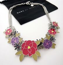 Auth Marc by Marc Jacobs Miss Marc Posies Flower Necklace Rv$168