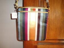 NEW Coach Julia Legacy Stripe Swingpack Crossbody 46801 Beautiful NWT