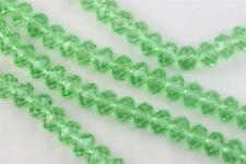 36 pc 10mm Chinese Crystal Glass Loose Beads Faceted Rondelle Apple Green Quartz