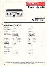 NORDMENDE Service Manual Anleitung HiFi Amp PA 1050 9.150 H   B1661