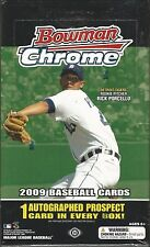 2009 Bowman Chrome Baseball Factory Sealed Hobby Box -1 Autograph Per Box