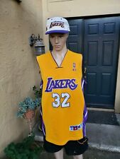 VTG 90'S LOS ANGELES LAKERS MAGIC JOHNSON CHAMPION JERSEY MEN 52