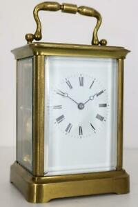 EARLY ANTIQUE FRENCH CARRIAGE CLOCK striking on a bell GOOD WORKING ORDER