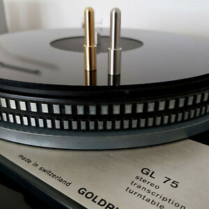Lenco  / Telefunken Turntable Stacking Platter Adapter. Brass or Steel.  HiFi.