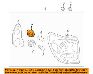 TOYOTA OEM Taillight Tail Light-Rear-Brake Lamp Bulb Socket 9007560002