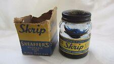 Vintage Skrip Sheaffer's Magic Spot Cap Chemopure Washable Blue Ink Bottle