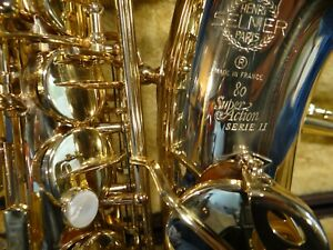 "saxophone alto selmer super action II 1989 ""superbe"""