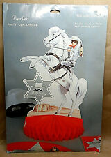 """Vintage Paper Art 1980 """" The Lone Ranger """" Party Centerpiece New In Package!"""