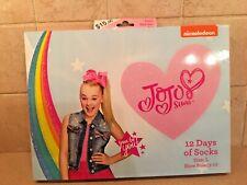 Jojo Siwa 12 Days Of Socks Kids Size Large