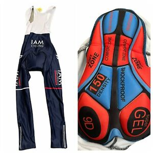 IAM Cycling Bib Tights Size XL  Padded Cuore Multi Color
