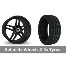 "4 x 18"" DRC DMG Matt Black Alloy Wheel Rims and Tyres -  225/40/18"