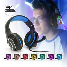 3.5mm Gaming Kopfhörer Mikrofon PC Laptop PS4 Xbox One Stereo Sound Headset