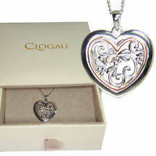Clogau Pendant One Diamond Heart Tree of Life Silver 9ct Rose Welsh Gold