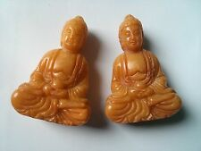 Chinese budda small statue 57mm yellow jade carved collectable figurine fengshui