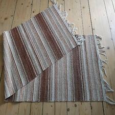 Handmade rug Striped brown Woven Scandinavian