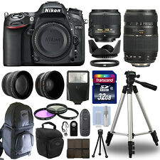 Nikon D7100 Digital SLR Camera + 4 Lens Kit: 18-55mm + 70-300mm + 32GB Bundle
