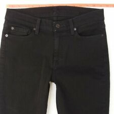 Ladies 7 for All Mankind GWENEVERE Stretch Skinny Black Jeans W28 L30 UK Size 8