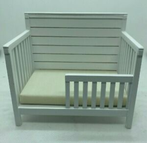 Dollhouse Miniature Child's Bed in White by JBM