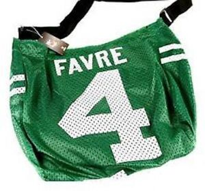New York Jets Brett Favre Jersey Adjustable Shoulder Bag