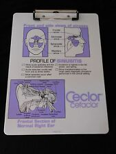 """CLIPBOARD CECLOR ADVERTISING  WITH FRONT AND SIDE VIEW OF SINUSES 12"""" X 9"""""""