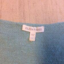 Eileen Fisher ladies knit short sleeve lt green scoop neck sweater linen