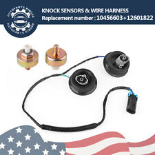 Knock Sensor Harness Pair Kit for Chevy GMC Silverado Replace 10456603+12601822