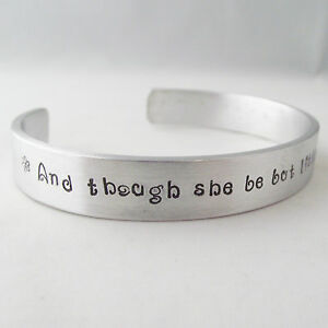 "Statement Cuff Bangle Torque Handmade Personalised ""....she is fierce"""